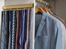Jamie Davis Client Story Tie Rack and Clothes Hanging