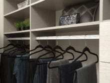 Jodie Parr Client Story Hanging Clothing Storage With Stainless Steel Finish