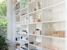 Camille Styles Classic White Dinnerware Storage Shelving