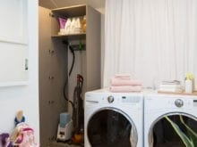 Jeanne Chan Client Story Hidden Steamer and Vacuum storage by California Closets