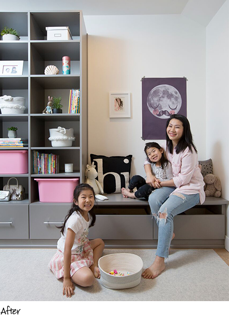 Jeanna Chan Client Story Happy Client with Kids After the California Closets Redesign