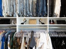 Lana Alicia Client Stories Clothing Hanger Space with White Slim Shelving