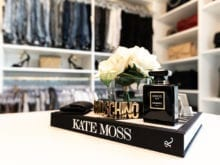 Lana Alicia Close Up of Kate Moss Book with Fragrance and Flowers