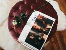 Client Story Luanna Perez Garreaud Rose on Crimson Cushion Stool