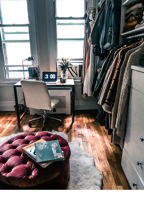 Luanna Perez Urban Space with Gray California Closets Storage Solutions