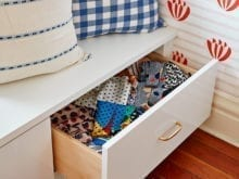 Clare Vivier Gloss White Front Drawer Inserts with Brass Hardware