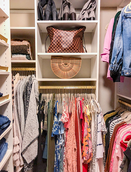 Fully furnished optimized closet for Fashion Blogger Vanessa Krombeen - California Closets Charlotte