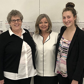 The winners of the 2018 California Closets scholarship smiling