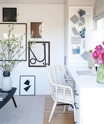 California Closets client Crystal Palecek enjoying her work space