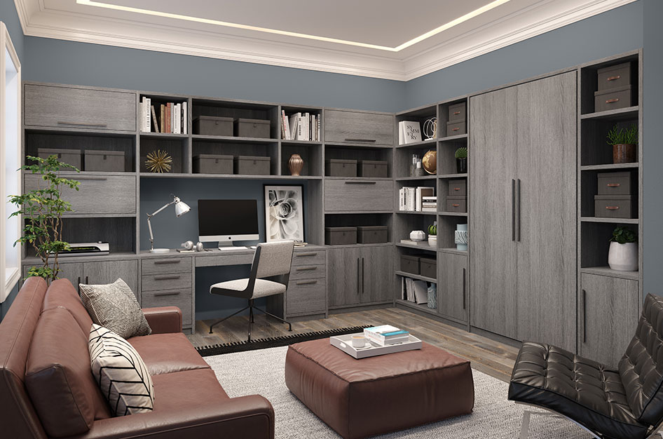 Custom Home Office Built Ins & Cabinet Storage | California ...