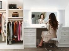 Vlogger Shea Whitney's custom white workspace | California Closets