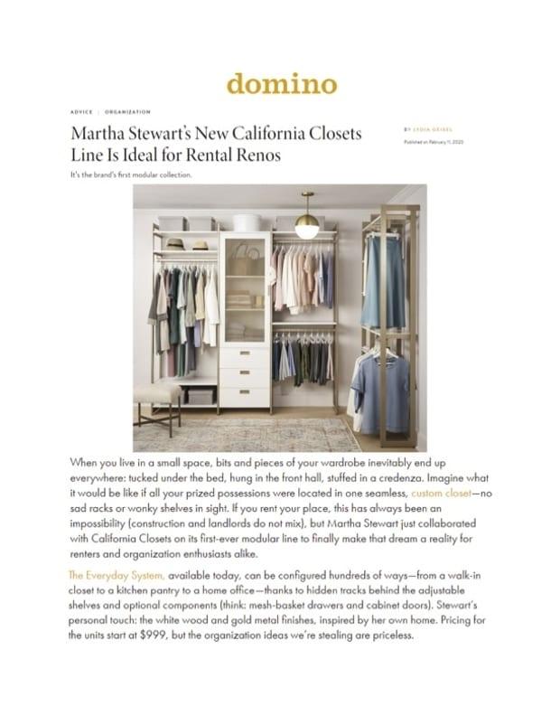 Domino magazine February 2020