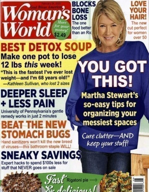 Woman's World February 2020 cover