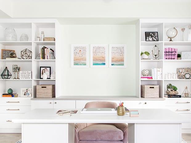 Custom Home Office Built Ins Cabinet Storage California Closets