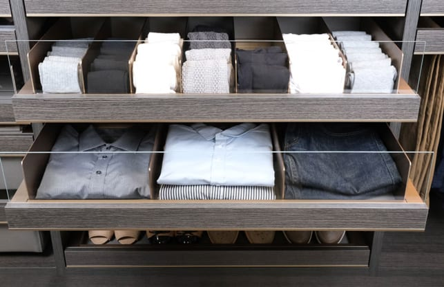 Clear front drawer